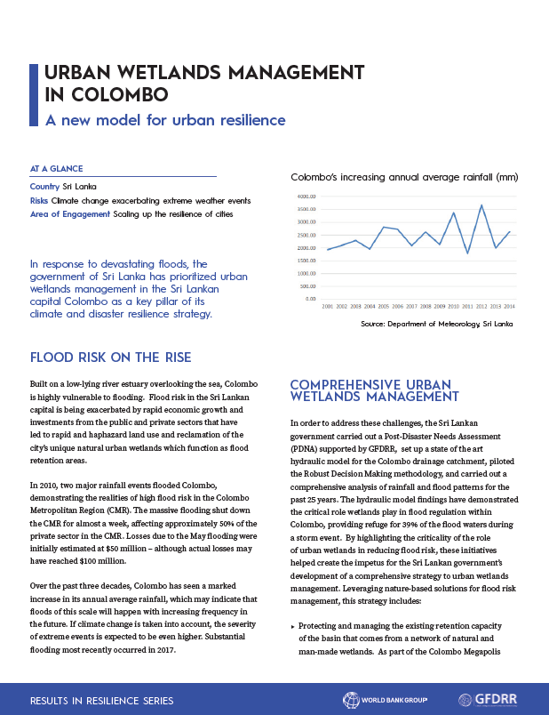 Results in Resilience: Urban Wetlands Management in Colombo