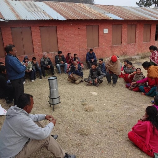 Farmers in Nepal's Kavre District discuss use of hydromet information