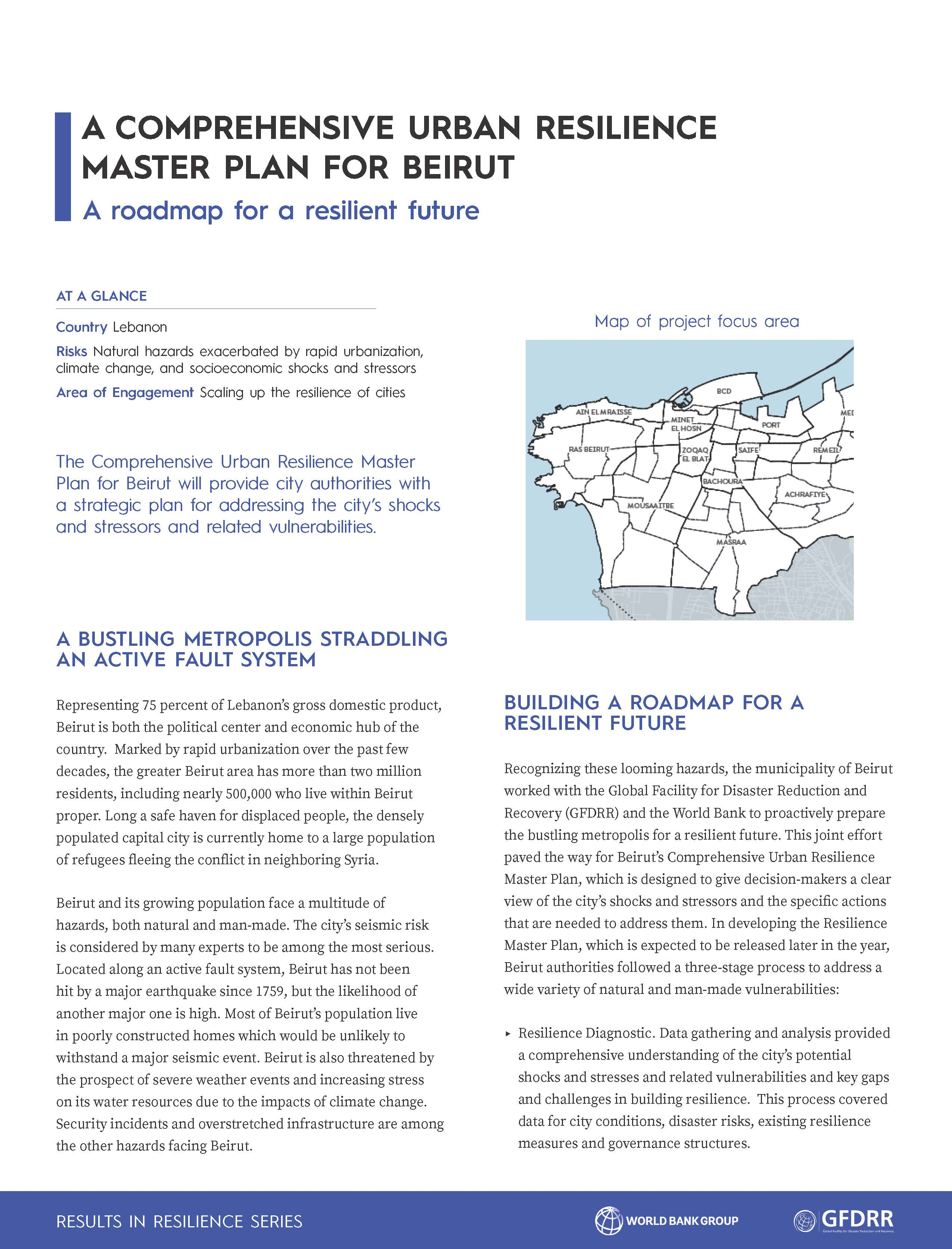 Comprehensive Urban Resilience Master Plan for Beirut