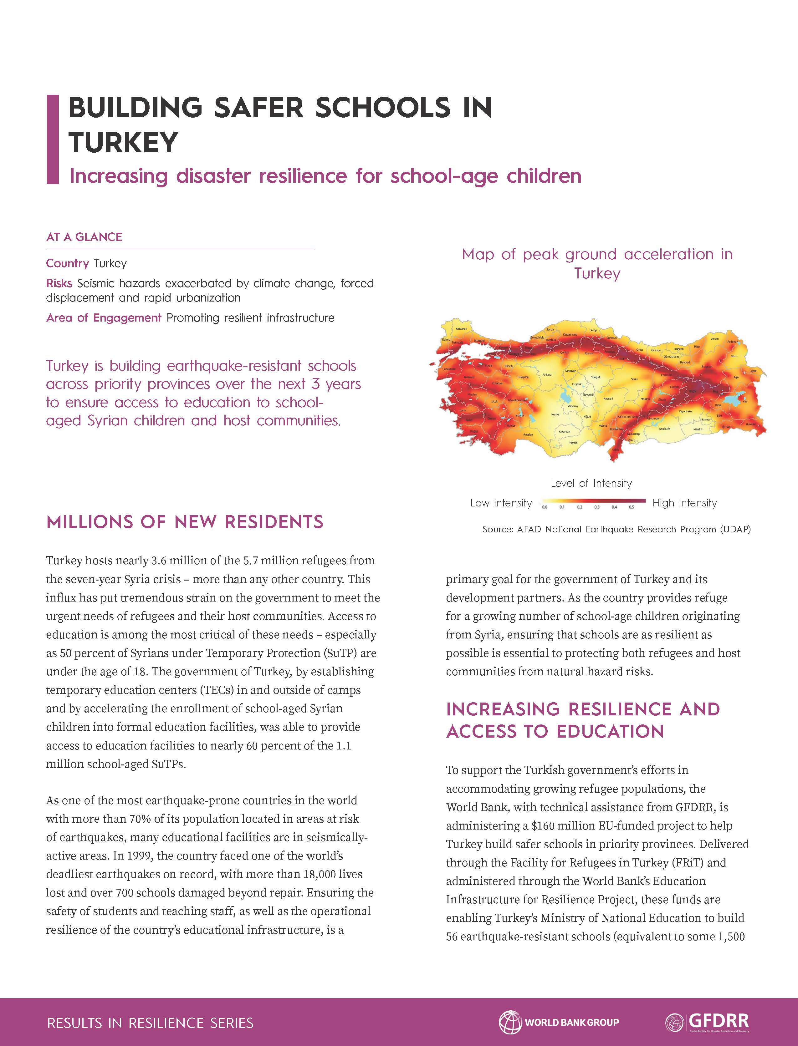 Results in Resilience: Building Safer Schools in Turkey