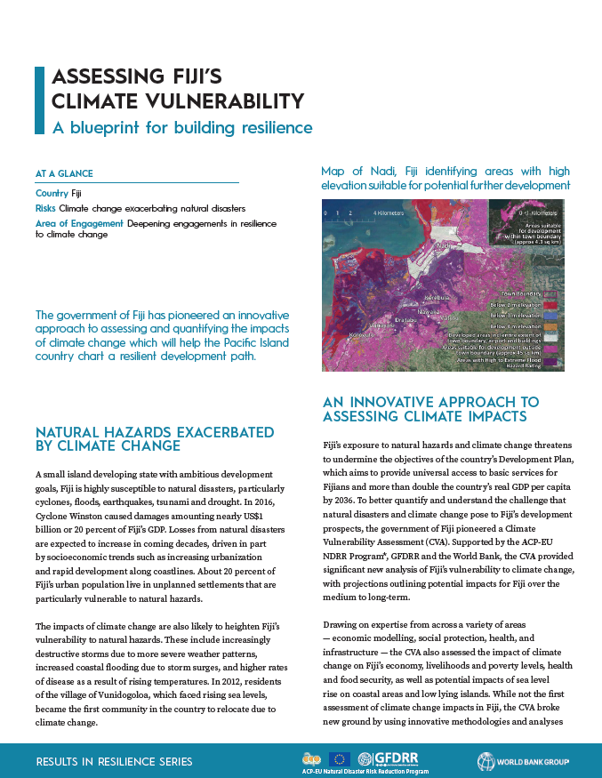Results in Resilience: Assessing Fiji's Climate Vulnerability