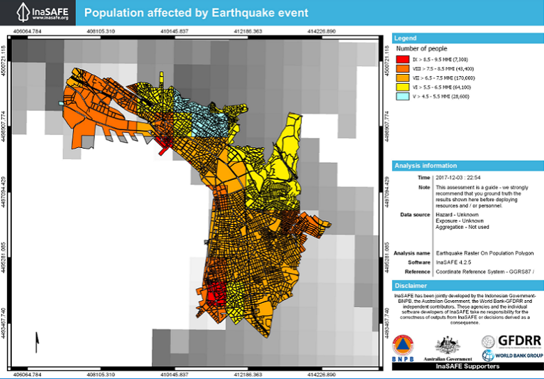 What would be the impact of the 1978 Earthquake on Thessaloniki today? The InaSAFE tool provides a glimpse of this scenario.
