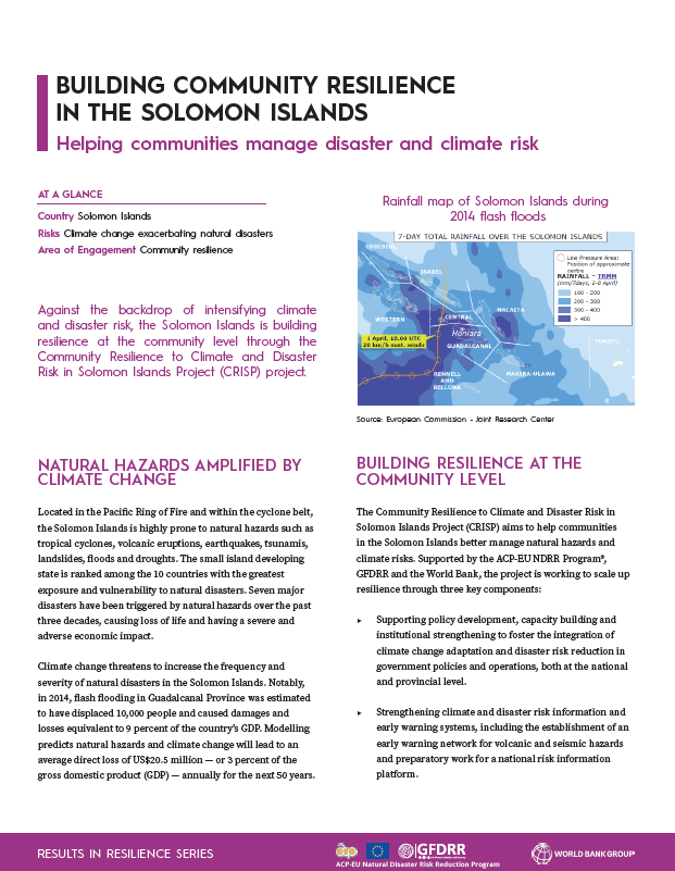 Results in Resilience: Building Community Resilience in the Solomon Islands