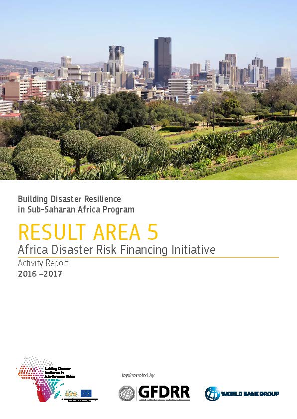 Africa Disaster Risk Financing Initiative Activity Report