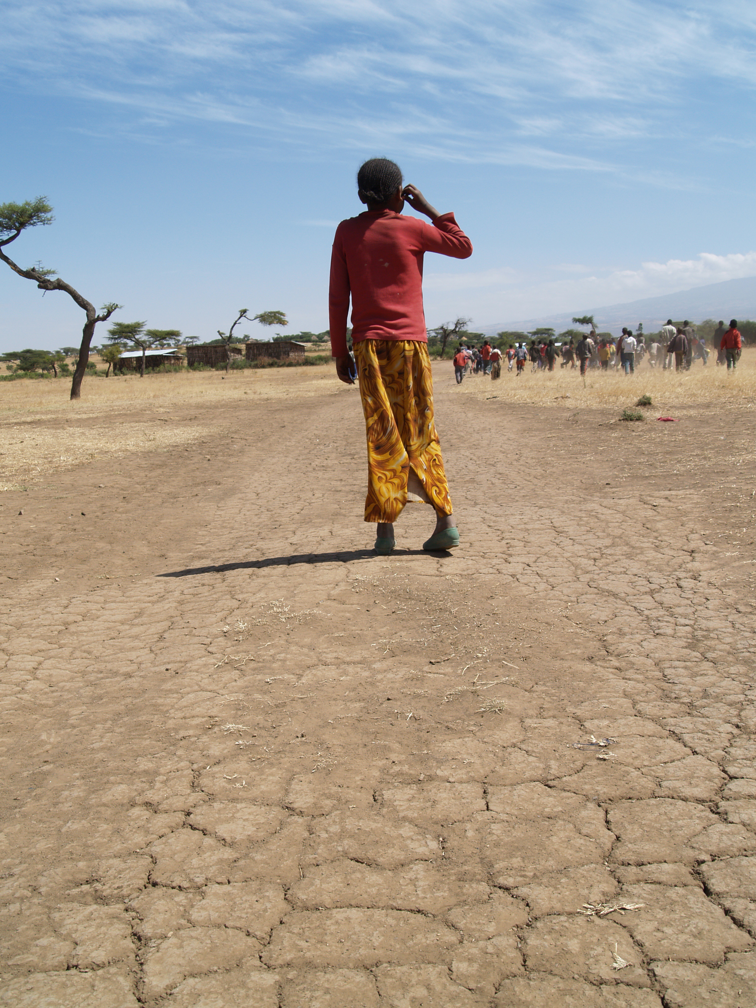 Person affected by drought