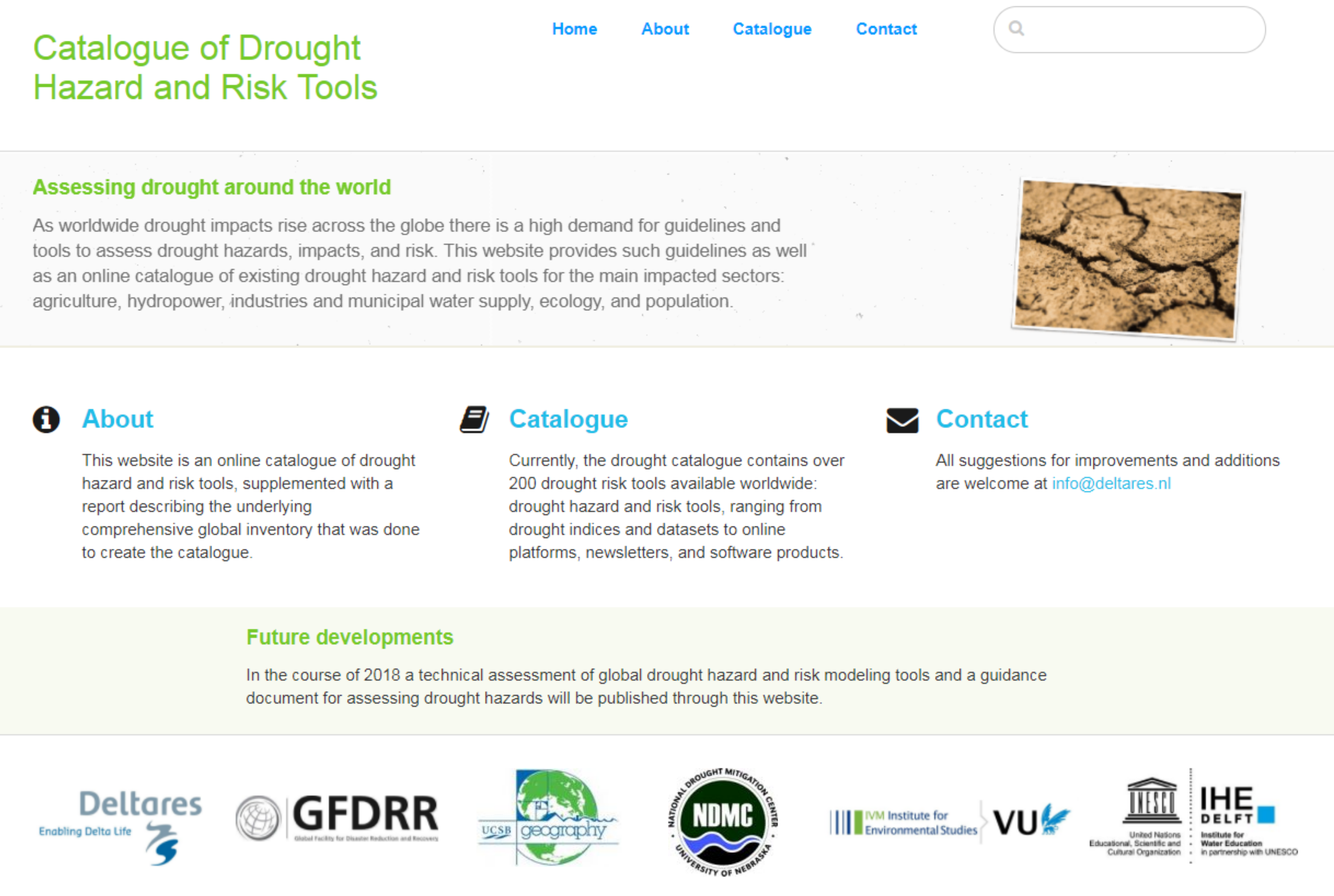 Catalog of Drought Hazard