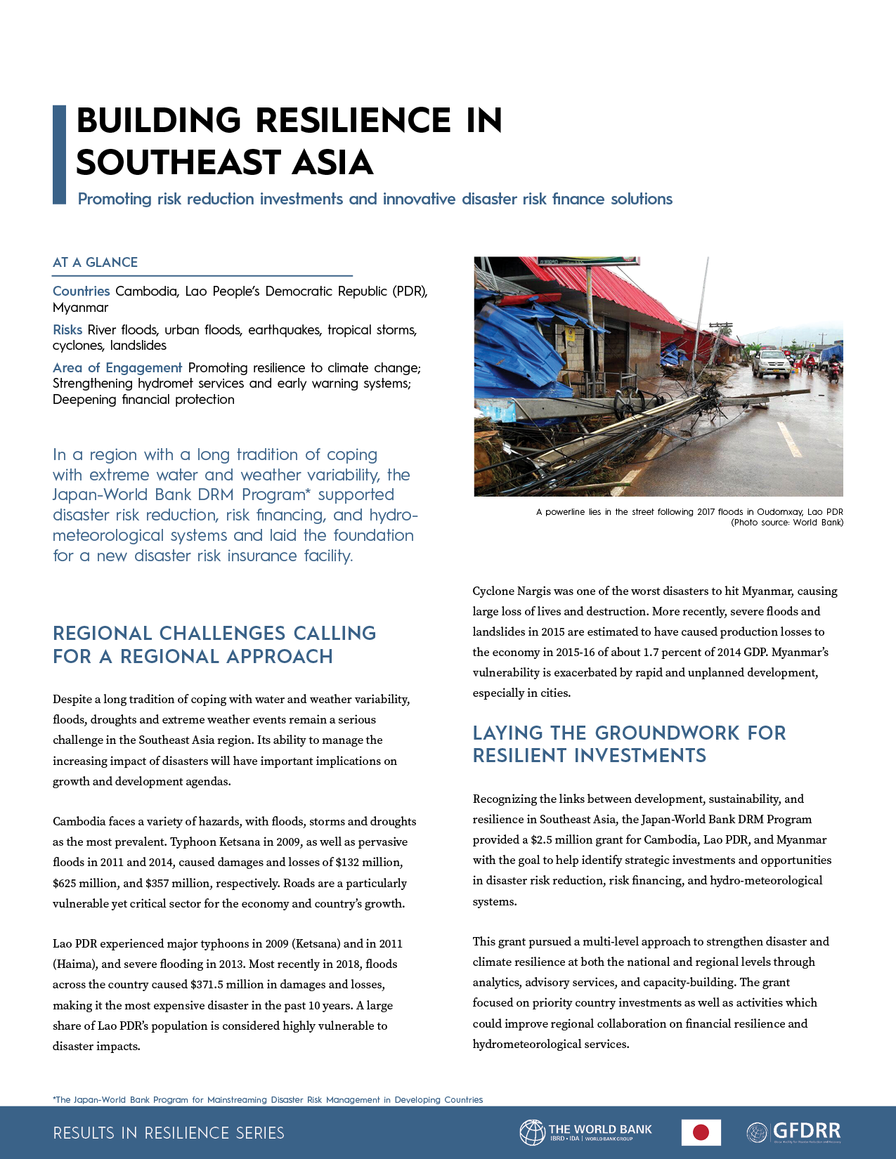 Building Resilience in Southeast Asia