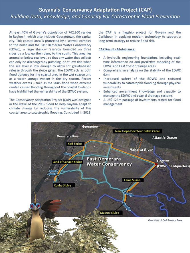 Brochure: Managing Flood Risk in Guyana The Conservancy Adaptation Project 2008-2013