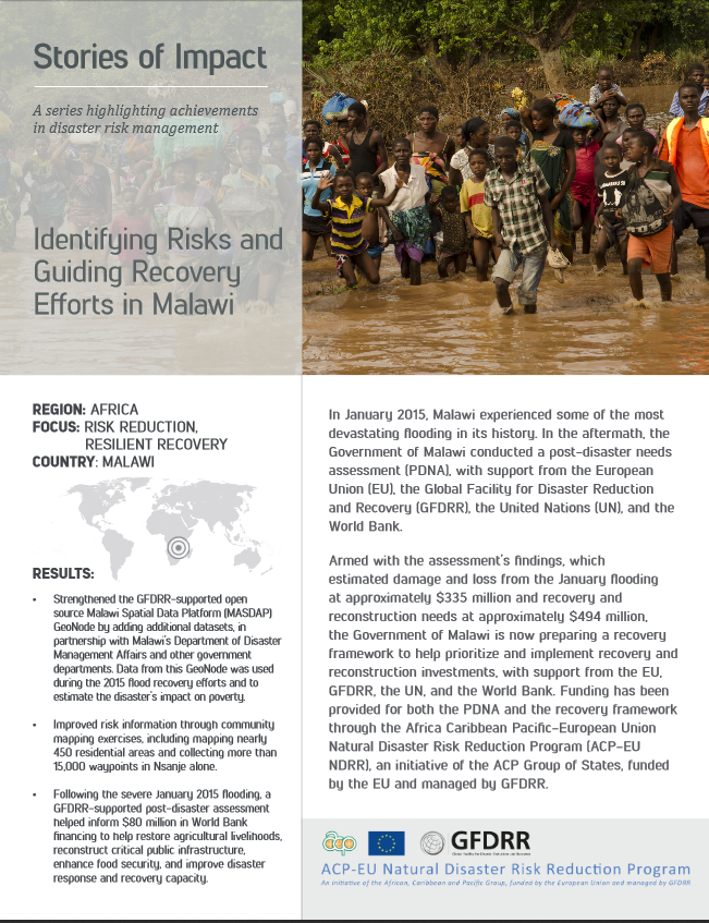 Identifying Risks and  Guiding Recovery Efforts in Malawi