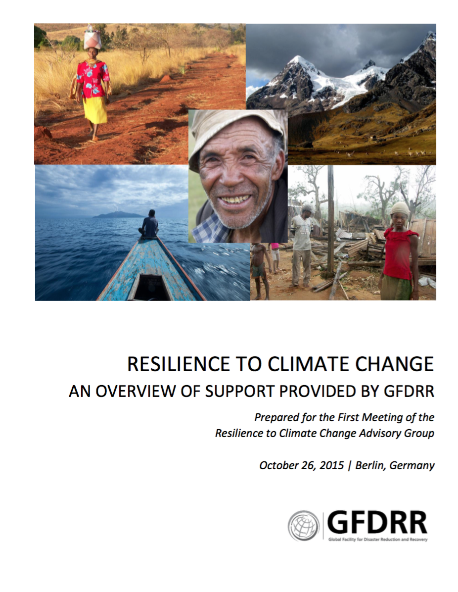 This is the cover for the report resilience to climate change