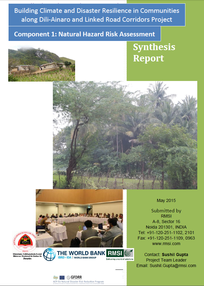 Publication of the Timor Leste - Hazard Risk Assesment Synthesis Report