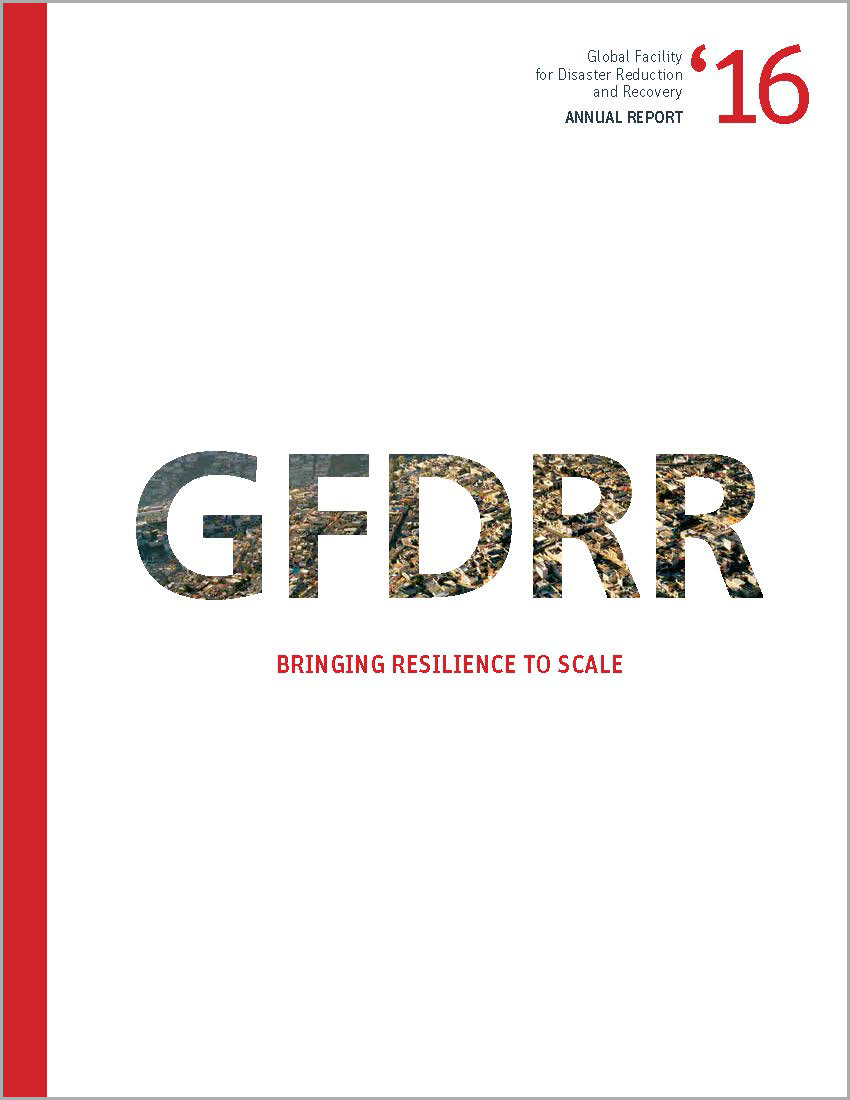 This is the cover page for the GFDRR Annual Report 2016