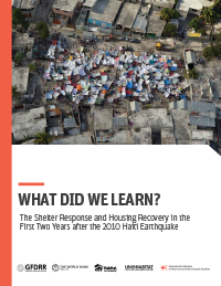 "Cover of the report, ""haiti: what did we learn?"""
