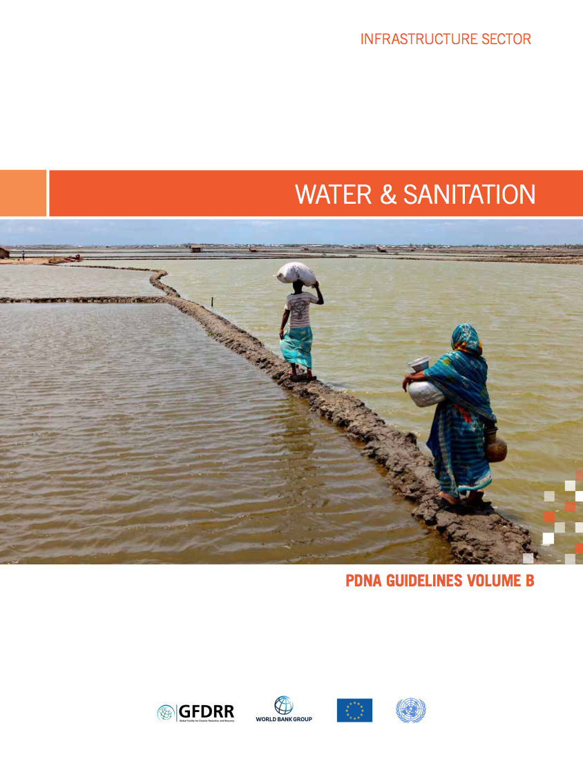 This is the cover for the pdna guidelines volume b water and sanitation