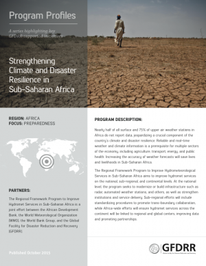 This is the cover for the program profile on Africa Hydromet