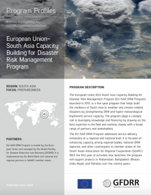 This is the cover for the program profile on EU-SAR.