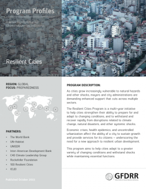 This is the cover for Program Profile Resilient Cities