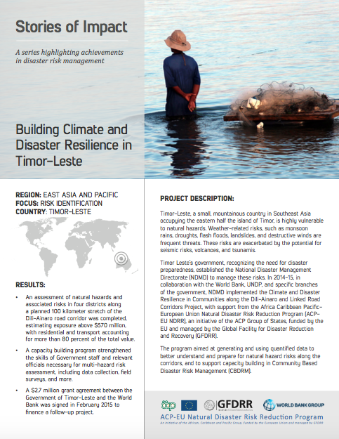 This is the stories of impact on timor leste