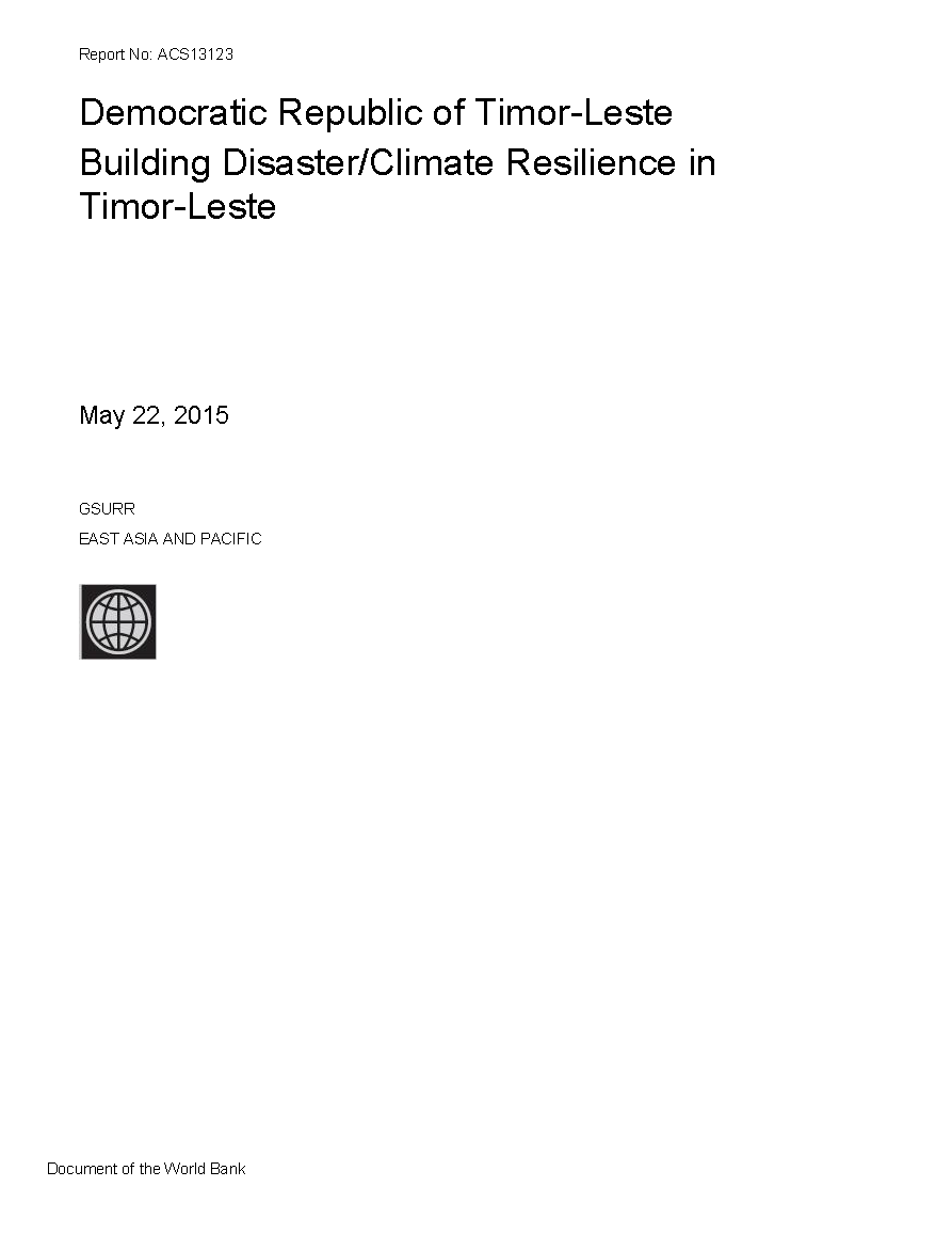 Natural Hazard Risk Assessment: Synthesis Report