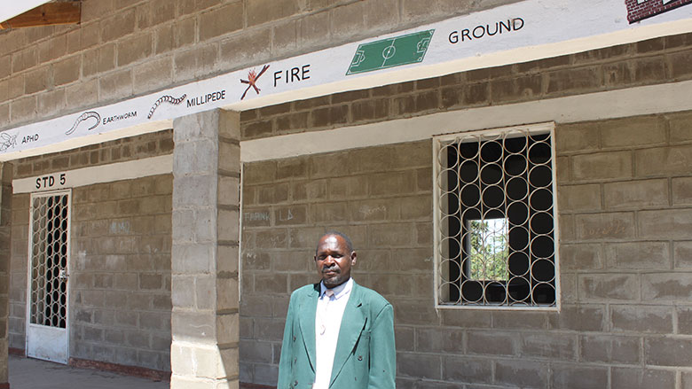 Enok Kamphiripiri, headmaster of Lalanje Primary School