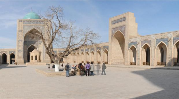 Courtyard of the Kalon Mosque in Bukhara, Uzbekistan (Photo by Jean-Pierre Dalbéra / CC BY-ND 2.0)