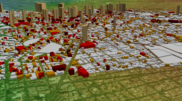 Map of expected damage in downtown Mexico City due to an a Mw 8.0 earthquake. Image from ERN.
