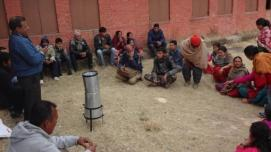Farmers in Nepal's Kavre District Nepal discuss use of hydromet information