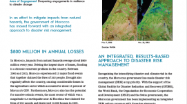 Integrated Disaster Risk Management in Morocco