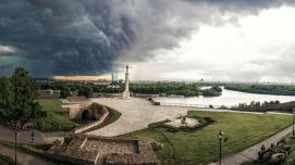 Kalemegdan, Belgrade - Storm over Belgrade in 2012
