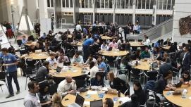 Mappers in action at the OpenDRI mapathon at the World Bank (Photo Credit: GFDRR)