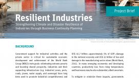 Project Brief: Resilient Industries - Strengthening Climate and Disaster Resilience of Industries through Business Continuity Planning