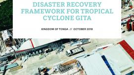 Disaster Recovery Framework for Tropical Cyclone Gita in Tonga