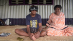 A man in Fiji views the virtual reality film, 'Our Home, Our People'