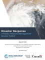 Disaster Response: A Public Financial Management Review Toolkit