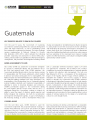 Country Program Update: Guatemala